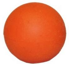 Slutstycksknopp orange gummi
