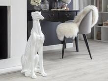 Beliani Dekorativ skulptur vit GREYHOUND