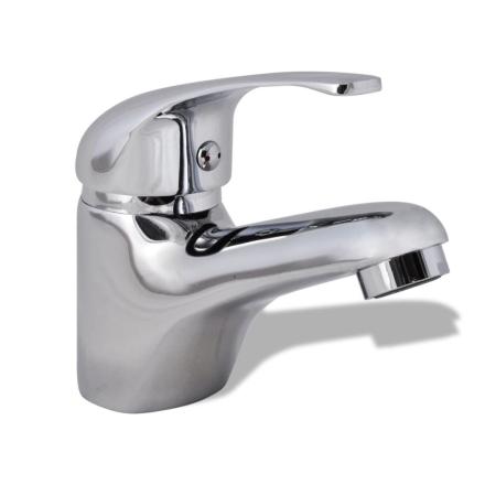 vidaXL blandingsbatteri håndvask krom