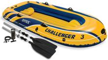 Intex Challanger 3 sæt oppustelig gummibåd med årer og pumpe 68370NP