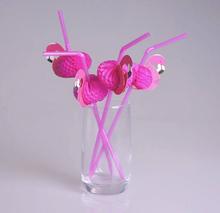 Flamingo sugrör till din hawaii, tropiska fest 24st