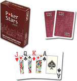 PokerStars - Spelkort - 100% Plast - Röd