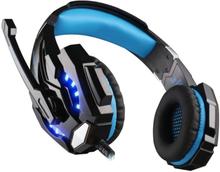 eStore Kotion EACH G9000 Gaming Headset med LED, Blå