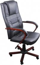 vidaXL Lyxig kontorsstol svart
