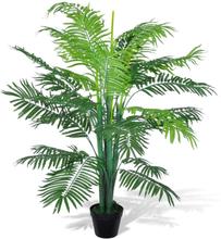 vidaXL Konstväxt Palmträd med kruka 130 cm