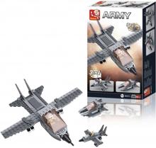 Sluban Byggsats Jaktplan, Aircraft Carrier Serie - Jet 3-i-1