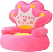 vidaXL Barnstol i plysch prinsessa rosa