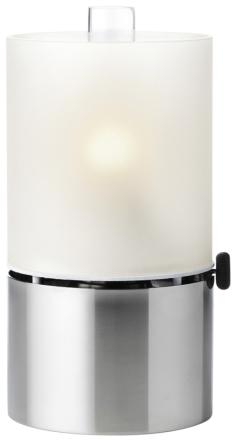 Stelton EM Oljelampe, frostet lampeglass