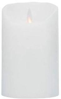 LeveLys LED Stearinlys Ø hvid frostet 8x12,5cm