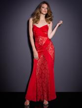 Lace Long Röd Klänning
