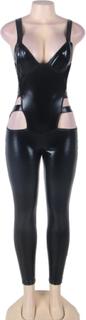Erotic Leather Jumpsuit