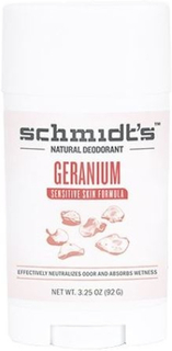 Schmidt's Deodorant stick Geranium Sensitiv hud, 92g.