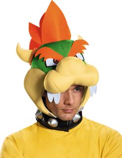 Bowser huvudbonad från Nintendo® för vuxna One-Size