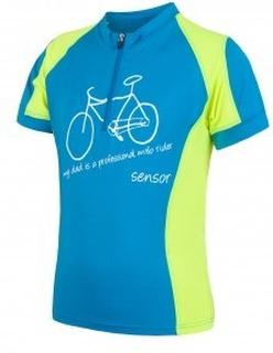Sensor Cyklo Entry - Cykeltrøje med korte ærmer til børn - Blå - Str. 140