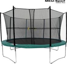 MCU-Sport Classic Plus 3,7m Trampolin + Sikkerhedsnet Grøn