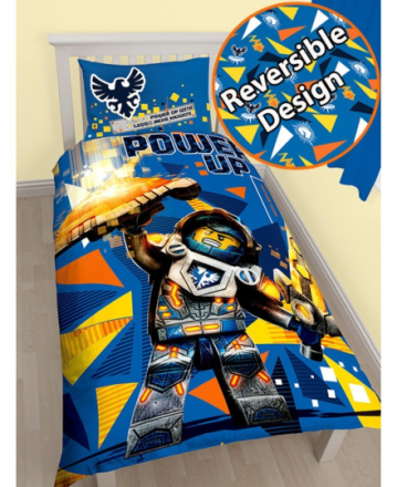 Lego Nexo Knights V2 Sengetøj 2i1 design - Only4kids