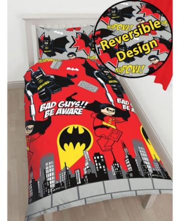 Lego Batman & Robin Sengetøj 2i1 design - Only4kids