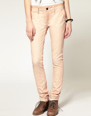 Denham Cleaner Coloured Skinny Jeans - Pink