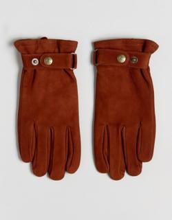 Dents Wells Nubuck Leather Gloves - Tan