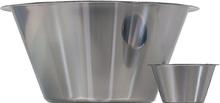 Bunke i rostfritt stål - Hög modell, 200 ml