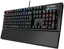 Gaming-tastatur Krom Kempo LED RGB Sort