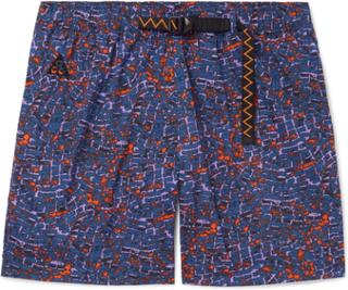Nike - Wide-leg Printed Nylon Shorts - Blue - L,Nike - Wide-leg Printed Nylon Shorts - Blue - M,Nike - Wide-leg Printed Nylon Shorts - Blue - XXL,Nike - Wide-leg Printed Nylon Shorts - Blue - XL,Nike - Wide-leg Printed Nylon Shorts - Blue - S