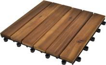 vidaXL Balkongplattor med vertikal design 30 x 30, 20 st