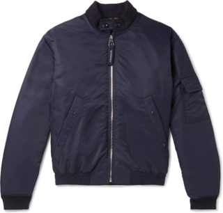 Padded Shell Bomber Jacket - Blue