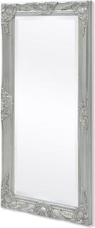vidaXL Väggspegel i barockstil 100x50 cm silver