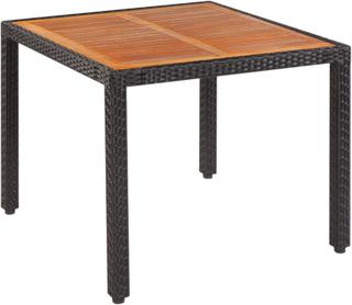 vidaXL Trädgårdsbord konstrotting bordsskiva i akaciaträ 90x90x75 cm
