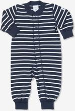 24781fa25841 Overall randig nyfödd mörk marinblå 44