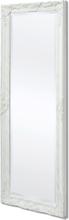vidaXL vægspejl barok-stil 140 x 50 cm hvid