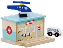 Ziekenhuis met traumahelikopter