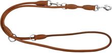 Kerbl Justerbart hundkoppel Roma 2 m läder brun 81098