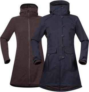 Bergans Bjerke 3in1 Lady Coat Dame 3-i-1-jakker L