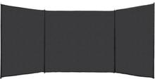 vidaXL Vindskydd HDPE 150x450 cm antracit