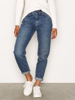 NLY Trend High Waist Vintage Denim Blue Jeans