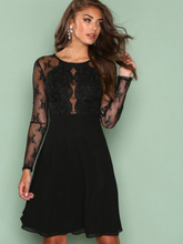 NLY Eve Whenever Lace Dress Skater Dresses Svart