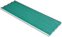 vidaXL Takprofiler 12 st galvaniserat stål grön