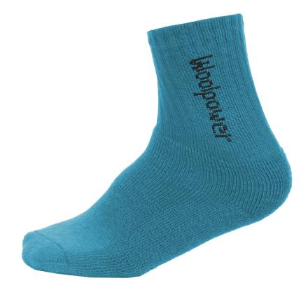 Woolpower 400 Classic Logo Lapset sukat , sininen 28-31 2019 Lasten sukat