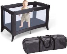 Home&Styling Home&Styling Hopfällbar resesäng med madrass mörkgrå