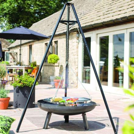 BBGRILL Stativgrill svart 172 cm BBQ TRIPOD