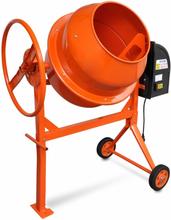 vidaXL Cementblandare 140 L 650 W stål orange