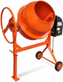 vidaXL cementblander 140 l 650 W stål orange