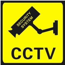 TV/Video-bevakning, Klistermärken 4st 11x11 cm