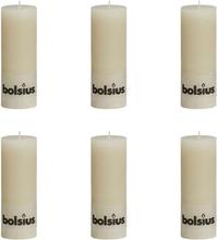 Bolsius Blockljus 190x68 mm 6-pack elfenbensvit