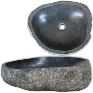 vidaXL håndvask flodsten oval 38-45 cm