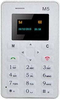 AEKU M5 Mini Ultratunn Mobiltelefon Svart