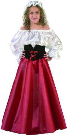 Kostym som medeltida bondmora för barn