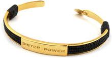 Sister Power Bracelet Black Gold